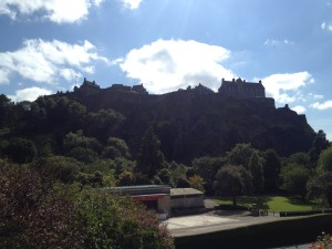 Edinburgh Castle viewed from Princes Street Garden