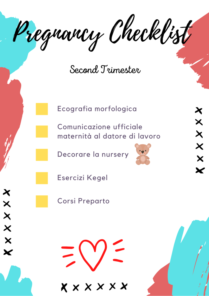 second trimester checklist